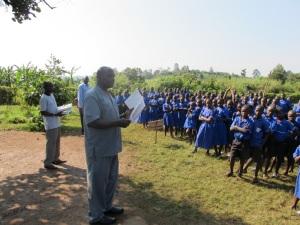 Kagaba Joshua Addressing Kyanyawara Students