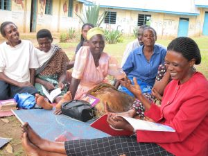 Kyakyo Beatrice Leads the Womens' Literacy Group