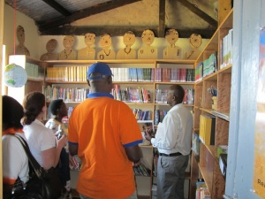 The Team from Book Aid International, Kyambogo University, and the National Library of Uganda Marvel at Kyanyawara's New Library
