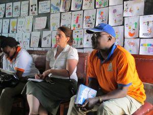 L to R: National Library of Uganda's Jennifer Malwanga, Book Aid International's Karen Sharkey, Kyambogo University's Dr. Bernard Bazirake Banuhinga