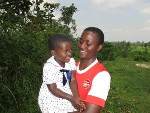 Mathew and Pani at the Farm