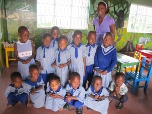 Former Weston Field School Scholar, Maureen, and Her Preschool Class