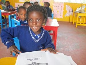 Kasiisi Teacher Proscovia's Daughter Attends the Preschool